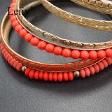 11PC/Set女性の腕輪の多彩のビードの金によってめっきされる宝石類のブレスレット