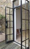 Portes françaises en acier modernes de fer de porte Bifold en verre en métal pour l'extérieur