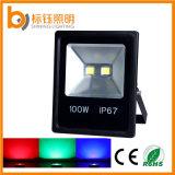 黒いシェルLEDのフラッドランプ防水ライト100W LEDフラッドライト3年の保証の屋外のセリウムのRoHSの