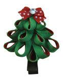 Arco variopinto dei capelli della clip di capelli di Pin di capelli dell'albero di Natale