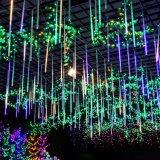 Indicatore luminoso multicolore della stringa di natale del giardino della festa nuziale degli indicatori luminosi di natale dei tubi AC100-240V LED della pioggia dell'acquazzone di meteora SMD2835 di 50cm esterno