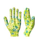 D'industrie enduite personnalisable de nitriles de jardin de nitriles de gants lisses de travail demi