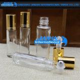 Perfume recargable de cristal claro vacío, botellas del rodillo del petróleo esencial