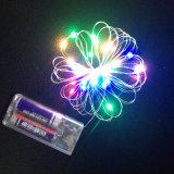 Van de Elektrische LEIDENE van de Batterij van aa Koord 1m 2m 5m 50 LEDs van de Lichten van de Fee Draad van het Koper