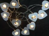 Het nieuwe 10lt LEIDENE Licht van het Koord met de Decoratie van het Hart, het Licht van Kerstmis