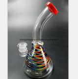 Conduite d'eau en verre de couleur pipe en verre de fumée de 7.87 pouces