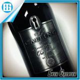 Leistungsfähiger kundenspezifischer Größen-Rotwein-Flaschen-Metallaufkleber-Kennsatz