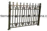 鉄の細工した庭の塀のゲートの塀