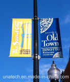 フラグの固定または土台のアクセサリを広告する二重側面ランプのポストの旗