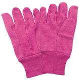 Розовый мини-пунктирной вязки запястья хлопка рабочие перчатки (2202. PK)
