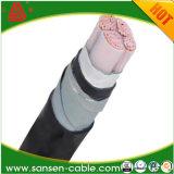 Cable de transmisión aislado XLPE de la alta calidad 0.6/1kv (YJV)