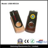Azionamento di legno dell'istantaneo del USB della parte girevole di prezzi di fabbrica (USB-WD334)