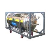 수평한 용접된 격리된 액체 질소 실린더 499L-1.59MPa