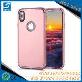 Qualität galvanisieren TPU Shockproof bereiften Matt-TPU Telefon-Kasten des Telefon-Fall für iPhone X