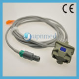 Sensor adulto do grampo SpO2 do dedo de Mindray Pm9000, 6pin, 2.8m