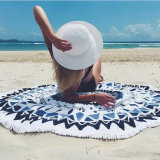 円形浜の投球のタペストリーのテーブルクロスのビーチタオル