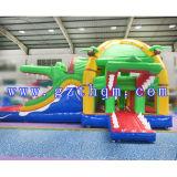 Corrediça inflável comercial do Bouncer combinado/corrediça inflável do Bouncer impressão de Digitas