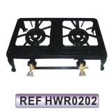 Tre stufa di gas del ghisa del bruciatore del bruciatore uno del bruciatore due (HWR0203)