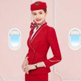 Dame-Zoll-passender Luftfahrt-langer Hülsen-Fluglinienstewardess-konstantes Kleid