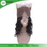 Onda sueltos negro natural virgen de la India los encajes de cabello humano 360 frontales