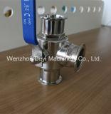 China Sanitaire Ss304 3 de Tri Vastgeklemde Kogelklep van de Manier