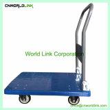 150Kgs lado plástico empurre o carrinho de mão de plataforma dobrável