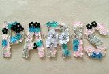 La chaîne de caractères colorée fabriquée à la main de lettre de décoration de vêtement de mode perle des accessoires de connexion de Sequin