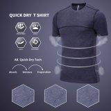 Camisa respirável da aptidão T do desgaste da ginástica de homens do esporte barato por atacado