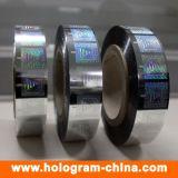 Anti-Contrefaçon de l'estampage chaud de clinquant d'hologramme de garantie d'or