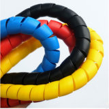 PVC, PP, PE PA manchon de protection de flexible de câble en plastique pour les machines