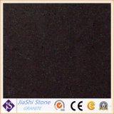 G603 Black Galaxy China la mitad de la losa de granito negro y el suelo de mosaico