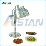 Calentador principal doble del alimento del calientaplatos de la dimensión de una variable de la lámpara Dw-2