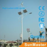 Garantia de 5 anos Solar LED Street Light 3 mm Thickness Pole