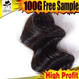 Dois tons naturais extensões de cabelo humano Brasileiro