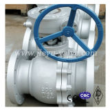 API6d Cast Body Carbon Steel Wcb 3pieces Flanged Trunnion Mounted Ball Valve