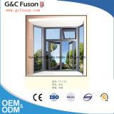 Het bodem Vaste Venster van het Glas van de Gordijnstof van het Frame van het Aluminium Guangzhou