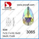Piedra de Cristal AB posterior plana para el comercio al por mayor (DZ-3065)