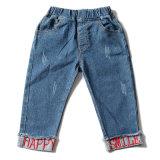 Niña bordados de la pierna Estiramiento de la apertura de los niños Kid Jeans