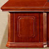 Mesa luxuosa de madeira da saliência do escritório da mesa de escritório de Cutomized do grande tamanho
