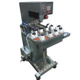 Semiautomáticos 2 cores de tinta de vedação do transportador Pastilha máquina de impressão