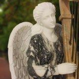 Statua di marmo materiale del Hunan di grande qualità di bello angelo, scultura T-5808 di angelo