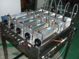 máquina 5-Head de dose líquida com tabela