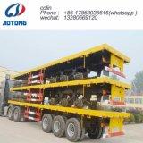 Tri-Axle esqueleto chasis contenedor de 40 pies semi remolque extensible
