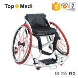 La terapia de la rehabilitación de Topmedi suministra el sillón de ruedas de aluminio del baloncesto de los deportes