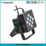 중국 9*10W 건전지에 의하여 운영하는 재충전용 LED 편평한 동위 빛
