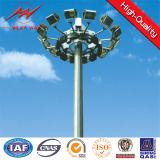 De Hoge Mast Pool van de Energie van de zonneMacht met Montage en het Systeem van de Lift voor de Verlichting van de Zeehaven
