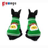 Pullover en tricot de vacances de chiot deux jambes Vêtements pet