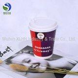 Sola taza impresa disponible del papel de empapelar del doble de la ondulación del cartón del café del papel de Kraft