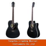 Preço mais barato 41polegadas Linden Guitarra Folk acústico de madeira