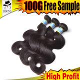 Onda brasileira do cabelo humano da extensão do cabelo